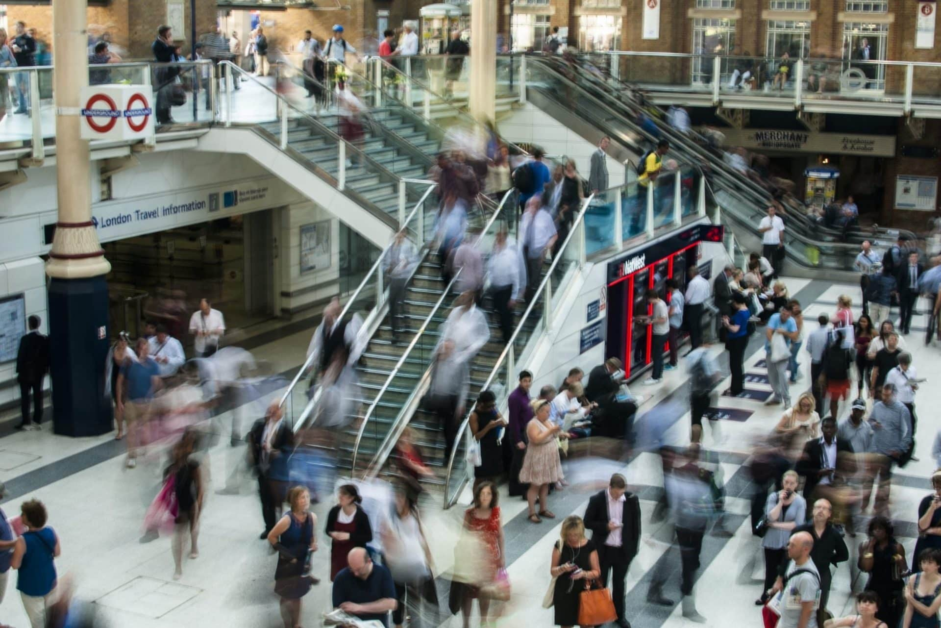 Busy London Underground view - ASL image