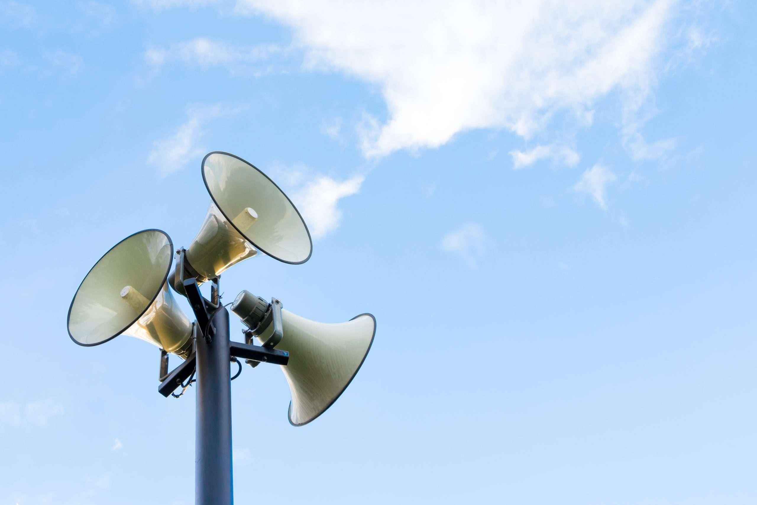 horn speakers sky - ASL image